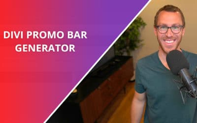 How to Create a Promo/Notification Bar in Divi